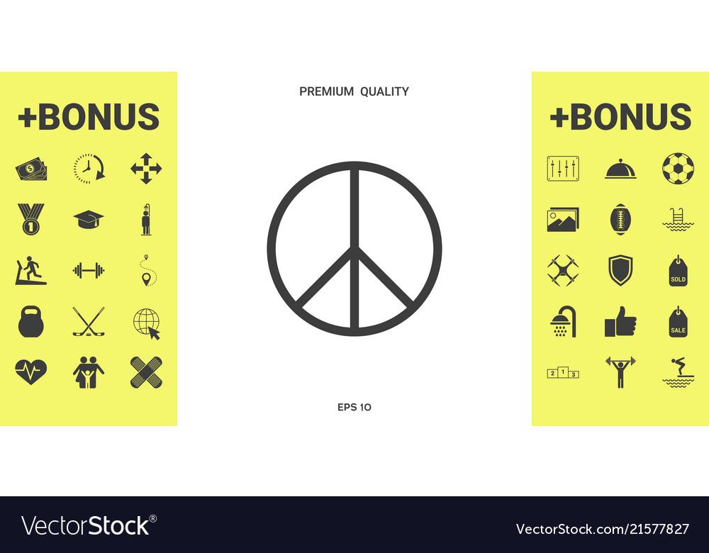 Peace Sign Symbol Royalty Free Vector Image Vectorstock