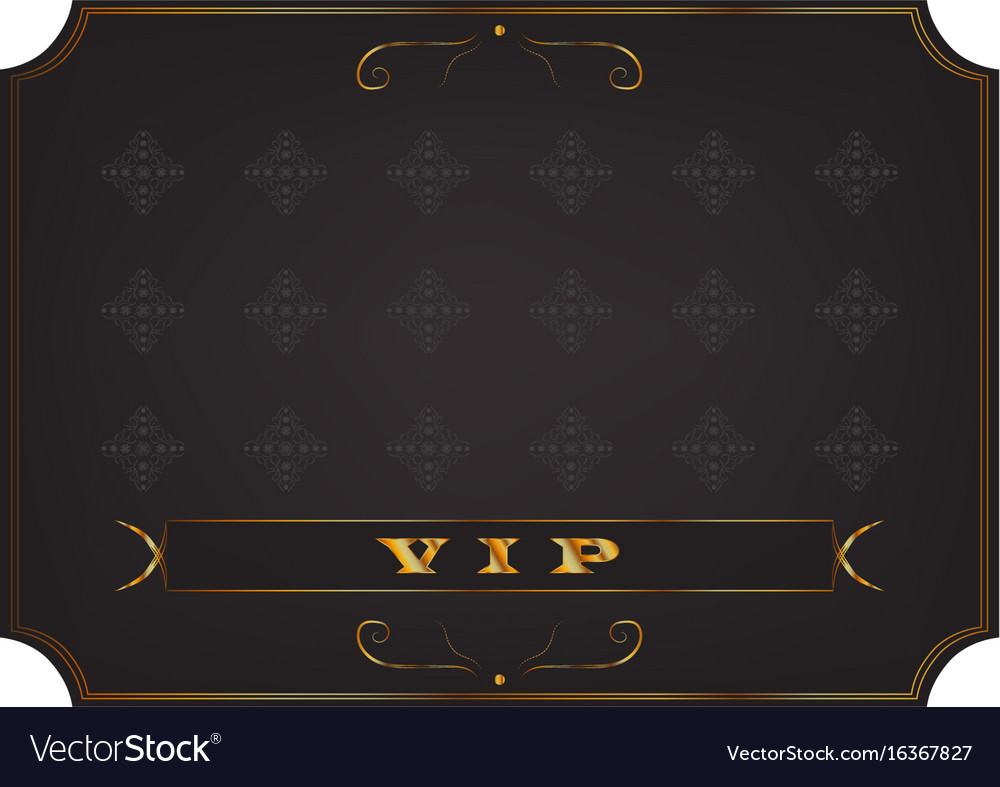 Poster with a gold inscription vip