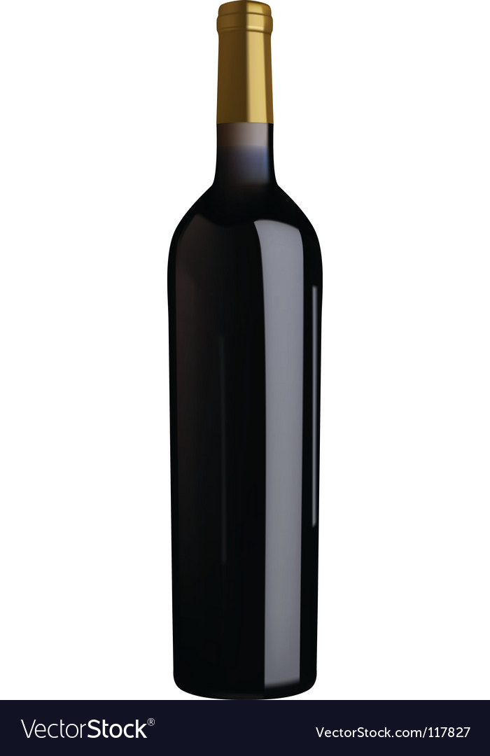 red wine bottle royalty free vector image vectorstock rh vectorstock com wine bottle vector free wine bottle vector freepik