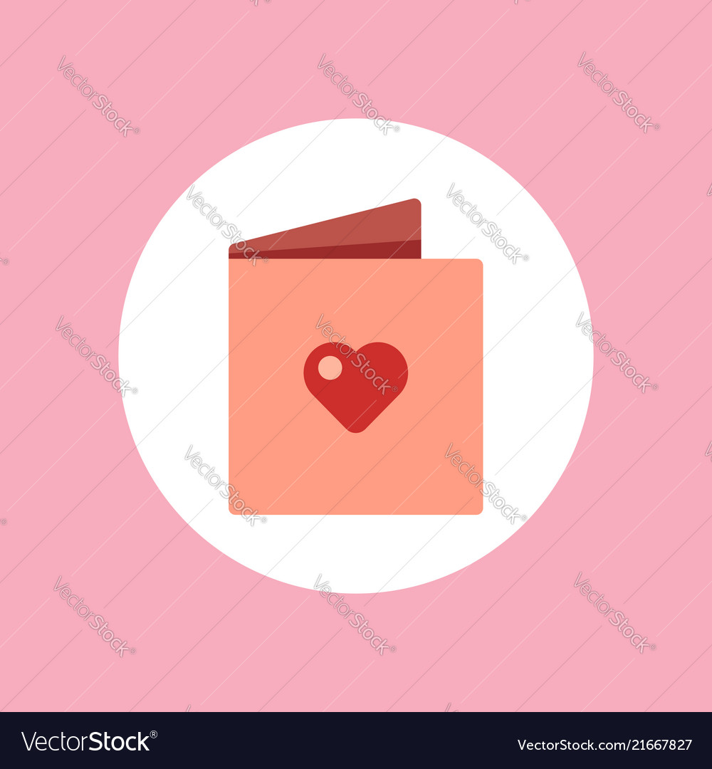 Valentine greeting card icon sign symbol
