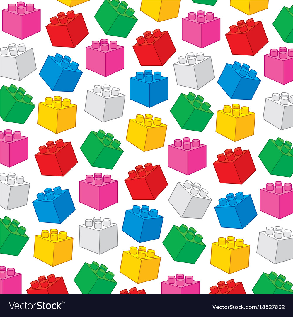 Background pattern with plastic building blocks