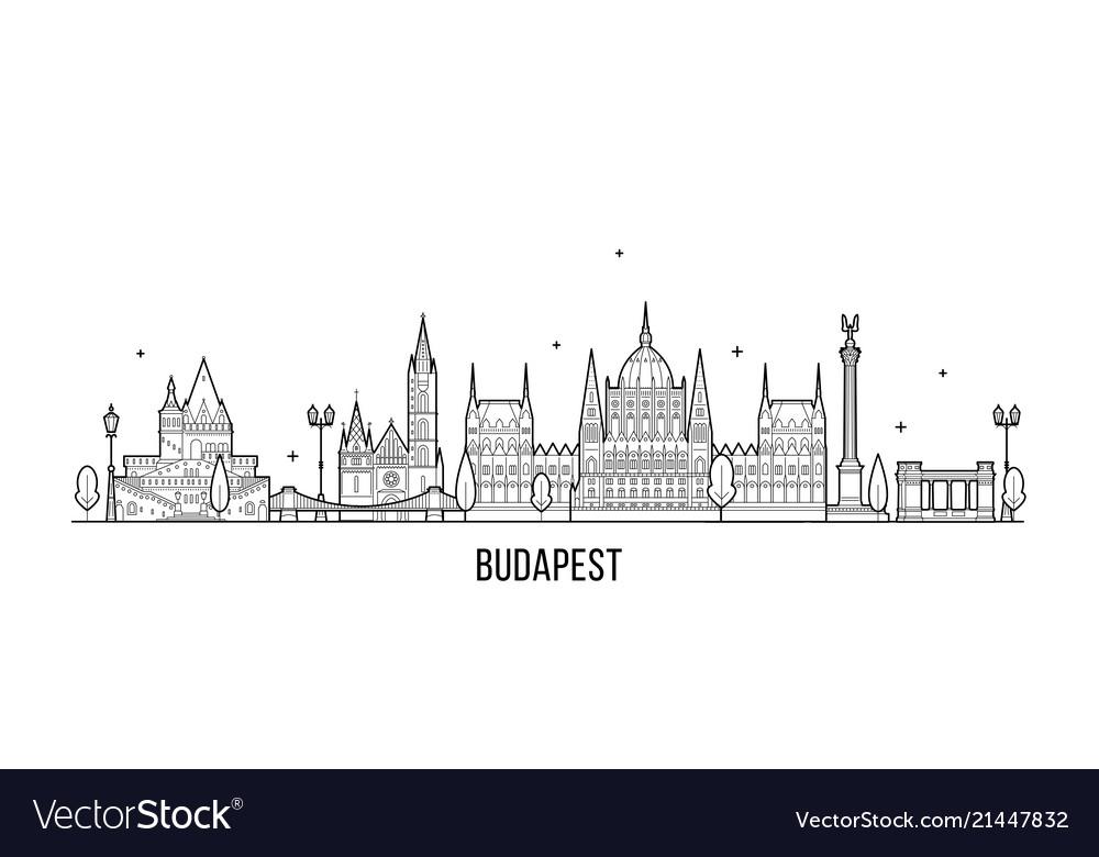 Budapest skyline hungary city buildings