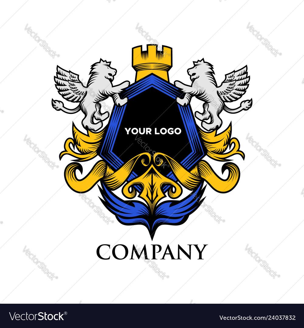 Luxury shield lion