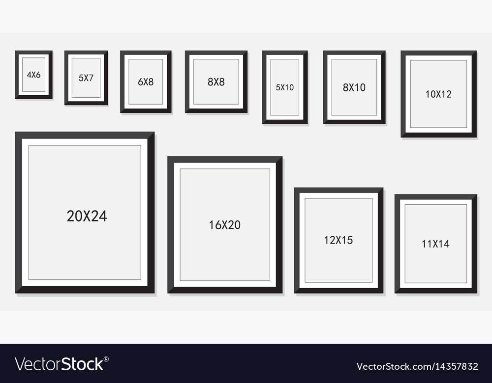 12x15 picture frame archival picture and photo frames size vector image royalty free vector image