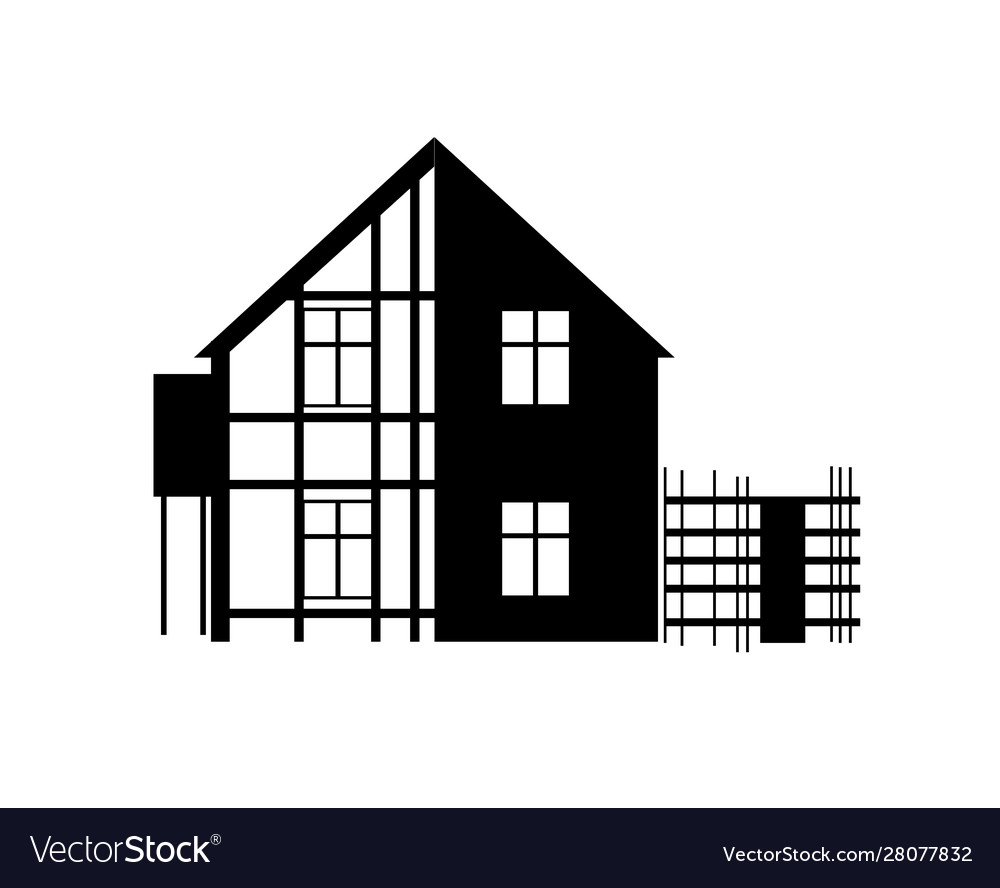 Repair House Building Construction Royalty Free Vector Image