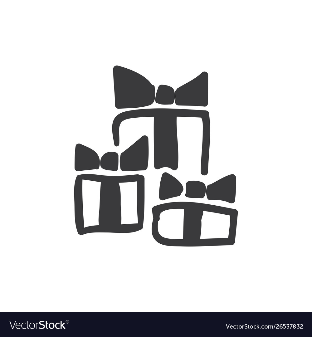 Stack gift boxes icon