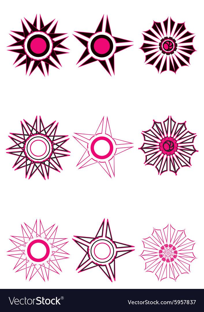 Decorative floral pattern motif