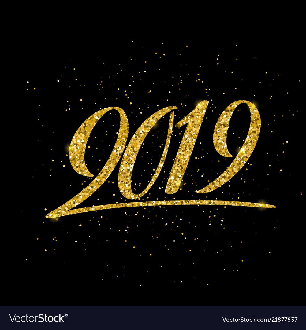 Happy new 2019 year greeting