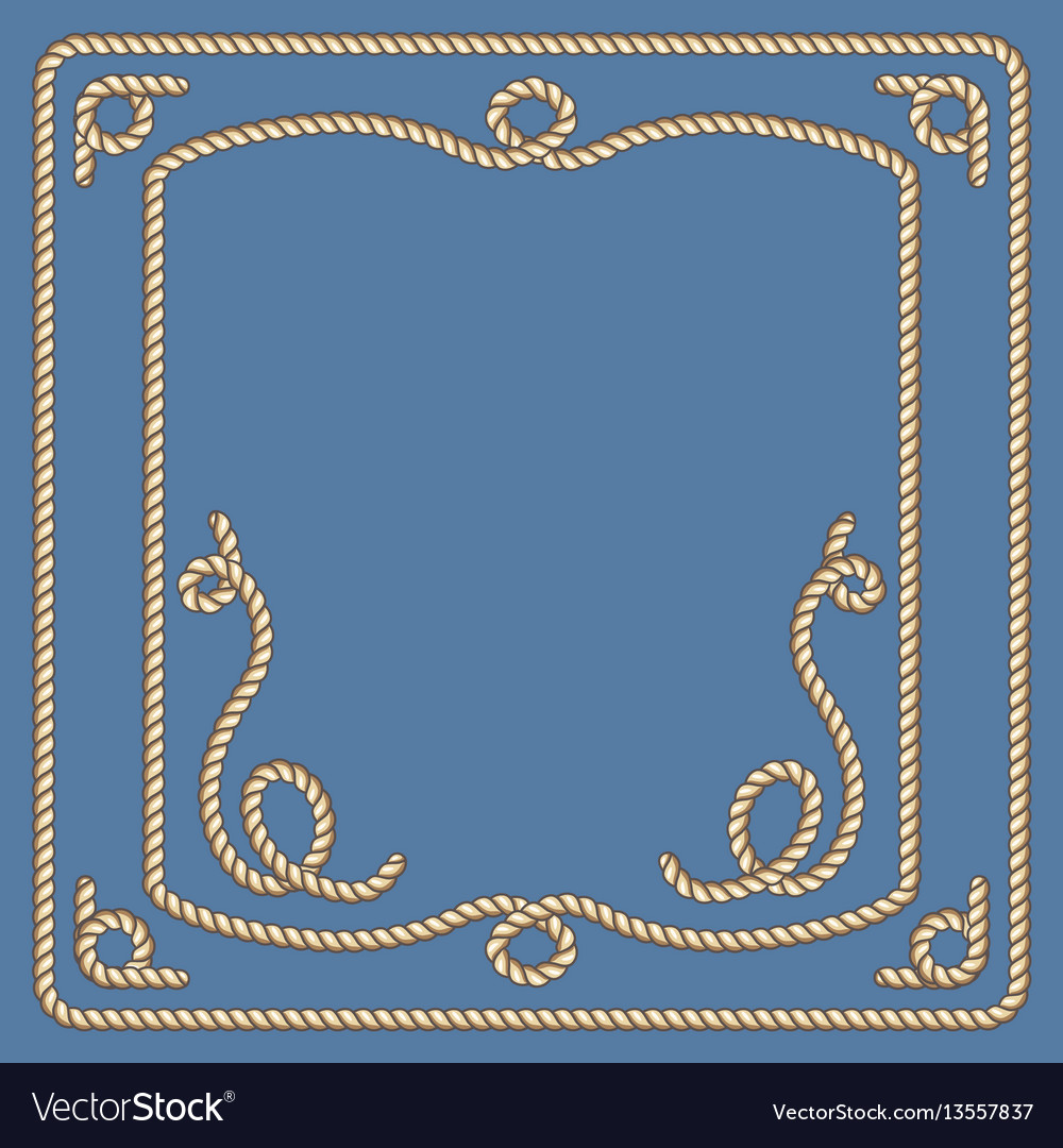 Nautical ropes frames set
