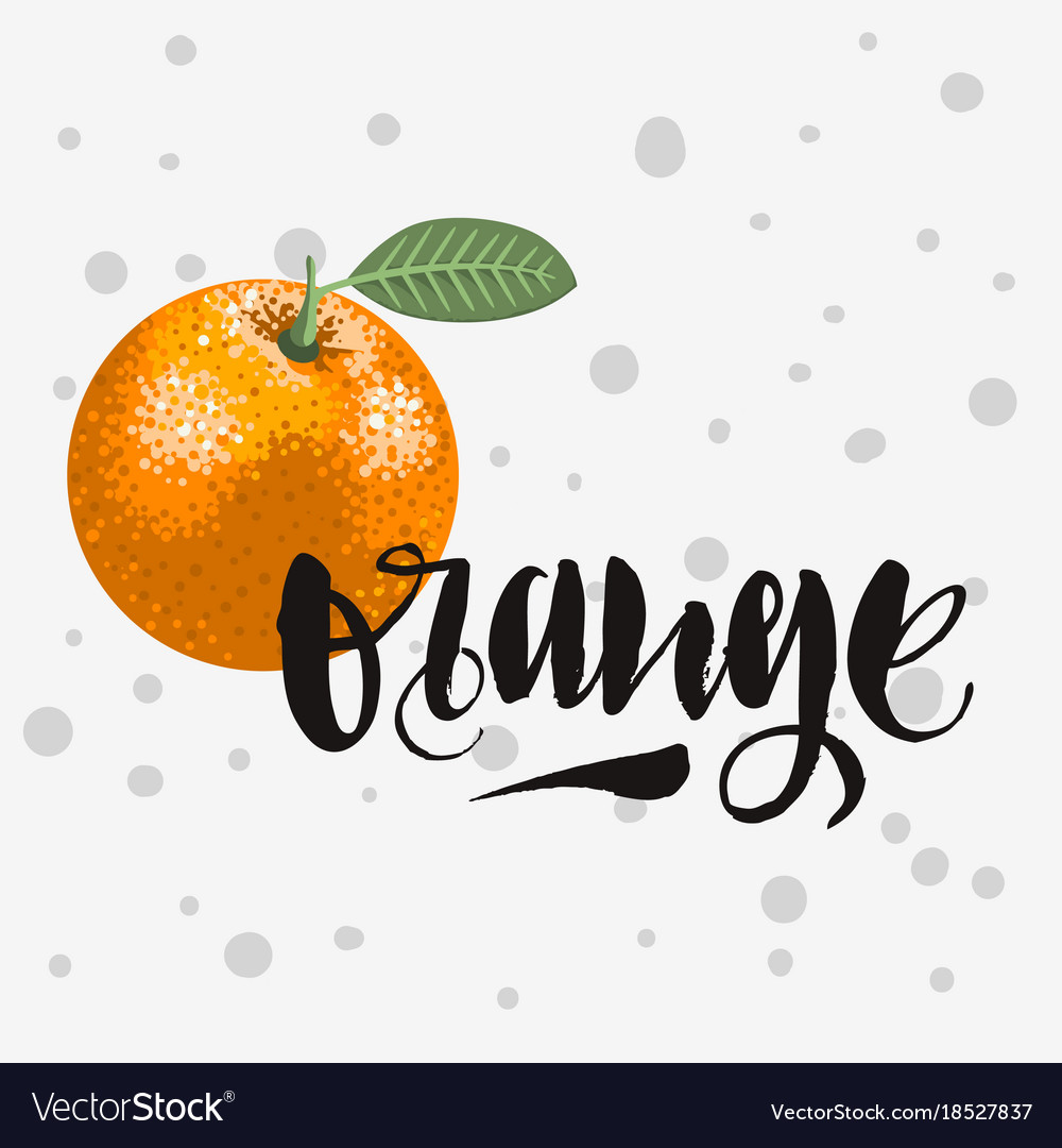 Orange rough traced custom artistic handwritten