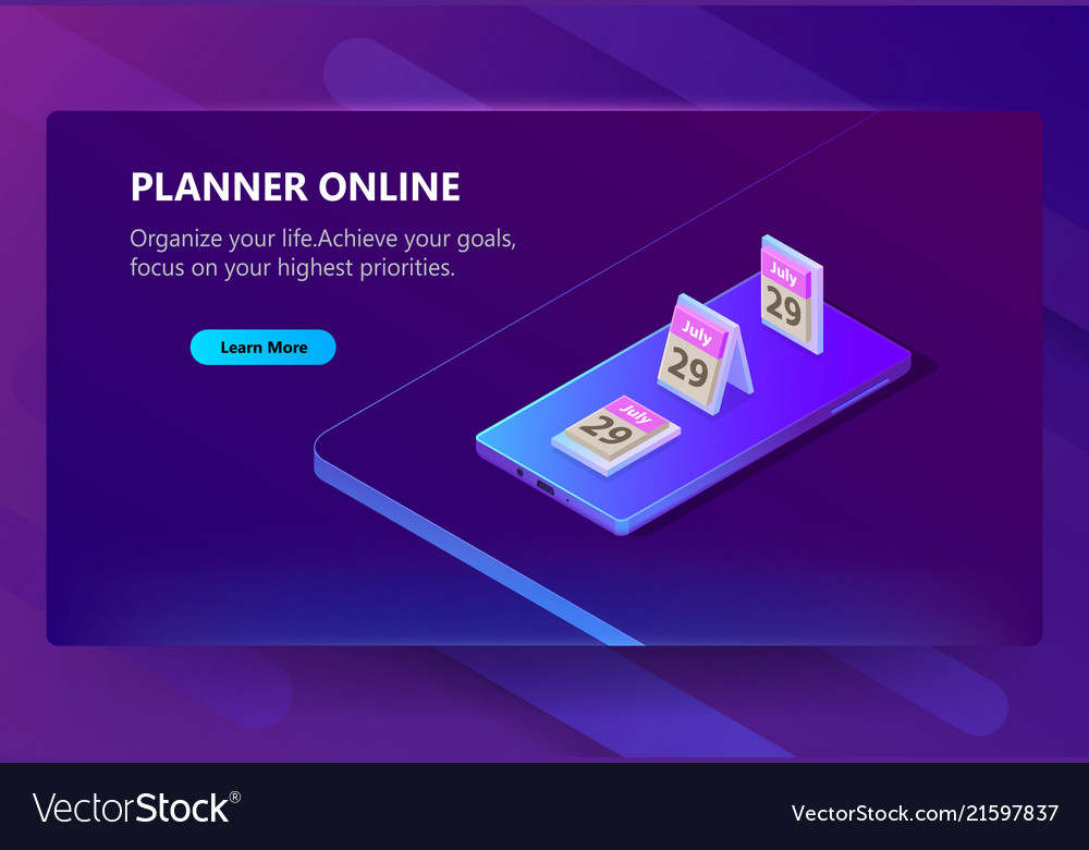 Site template for planner online schedule