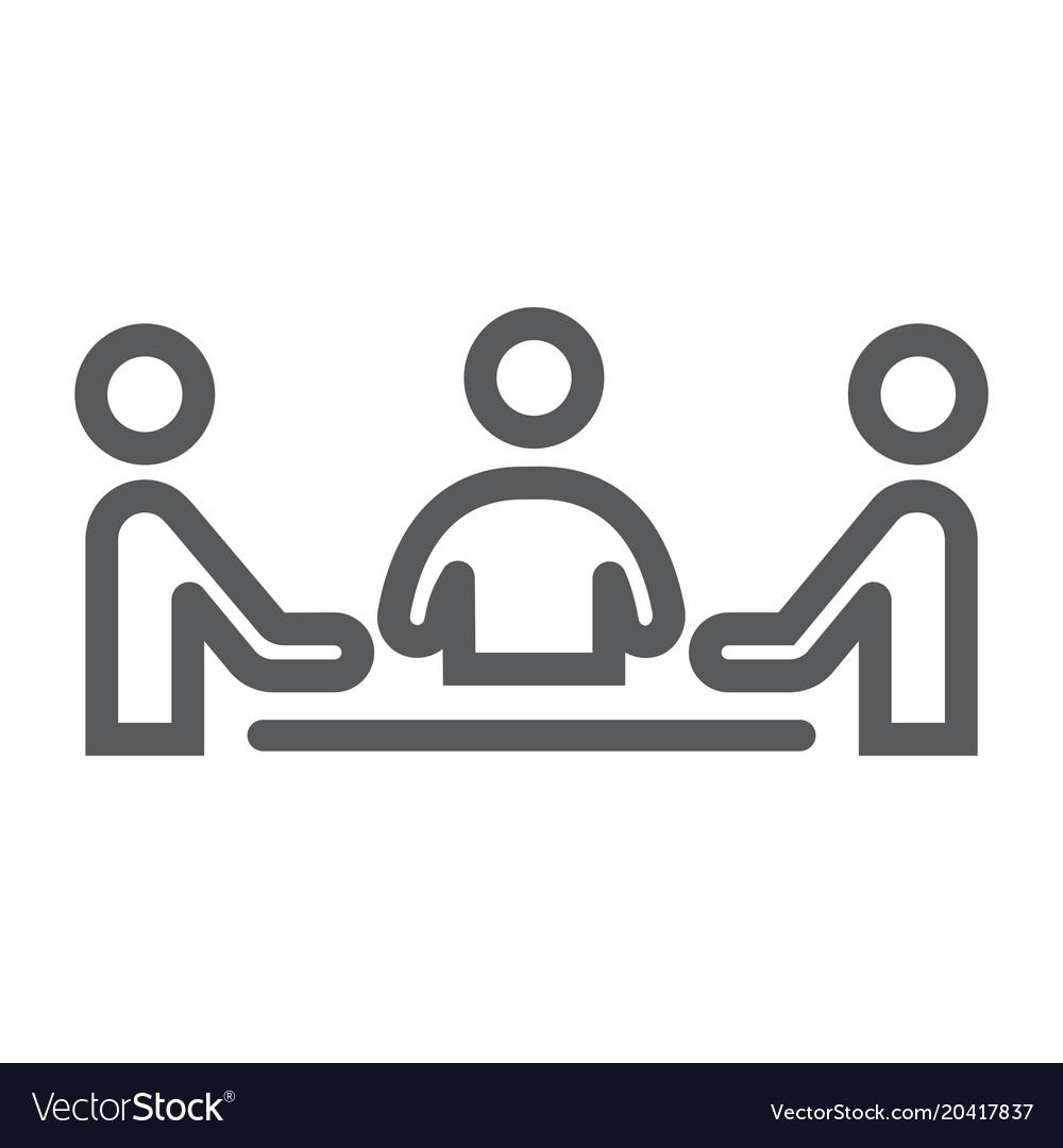 Teamwork line icon development and business