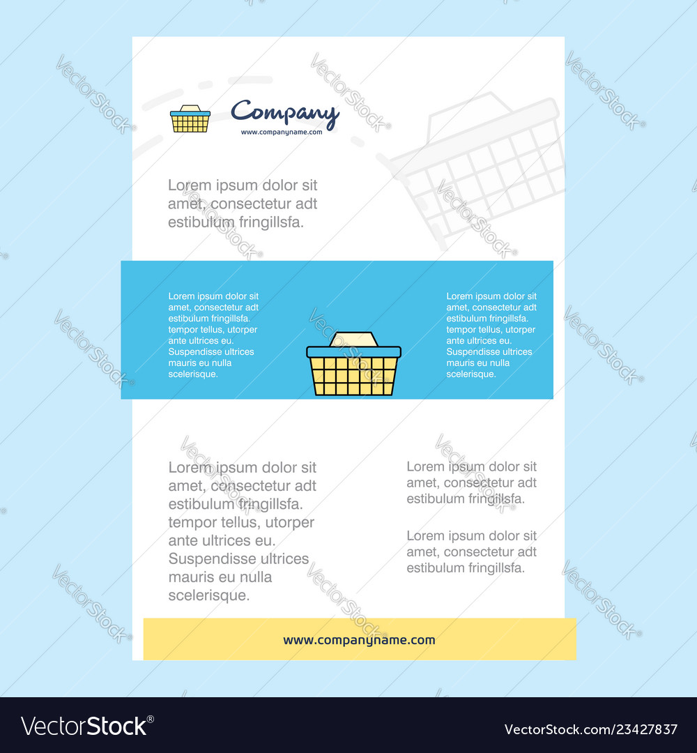 Template layout for basket comany profile annual