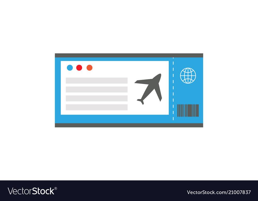 Ticket on plane document