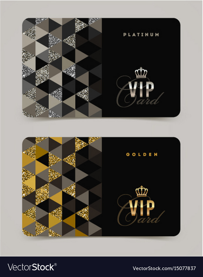 Vip golden and platinum card template