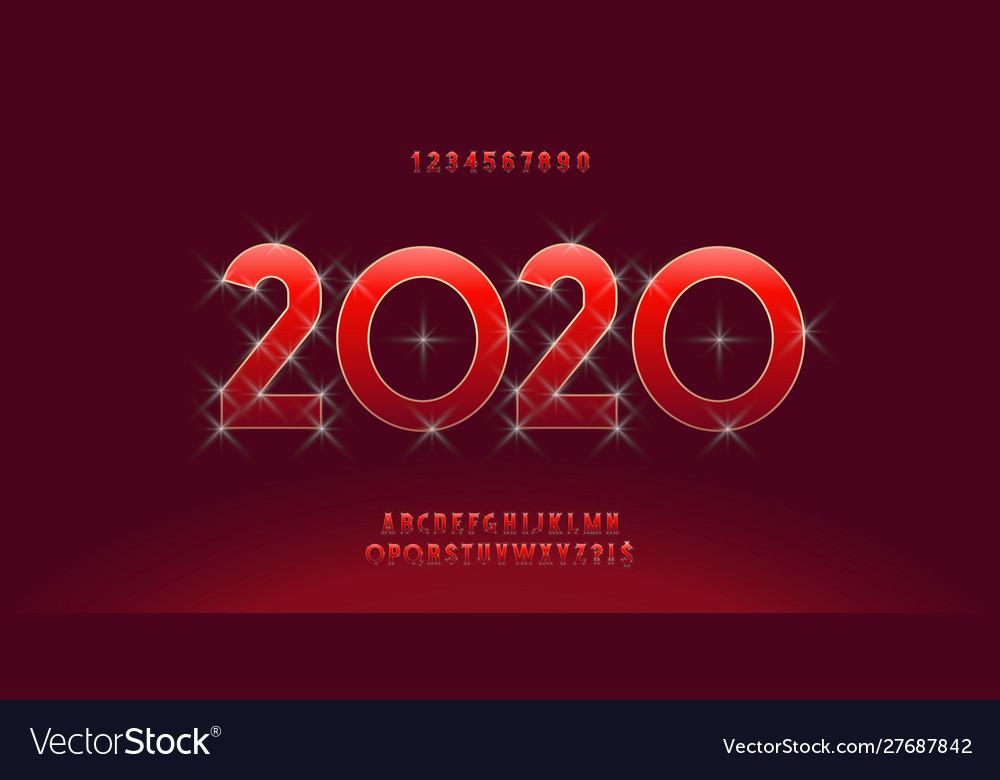 2020 christmas alphabet luxury style