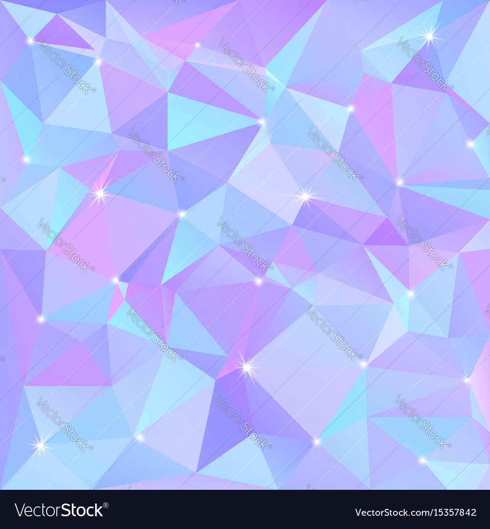 Beautiful blue abstract background of triangles