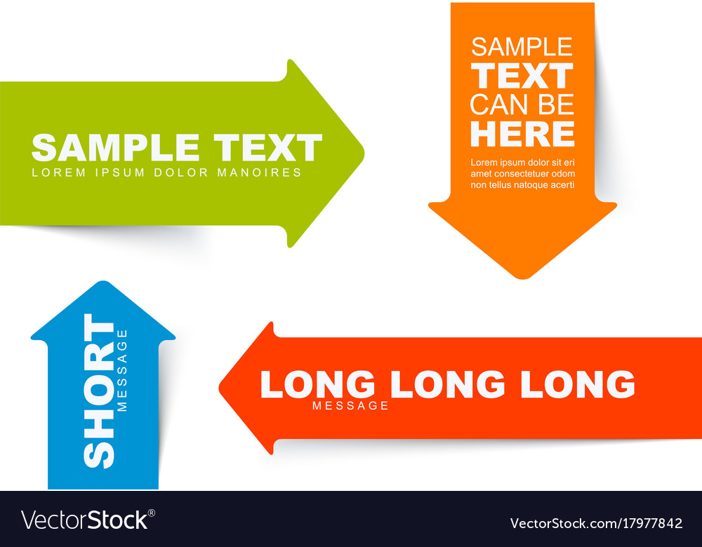 Color Arrow Bookmarks Templates Royalty Free Vector Image