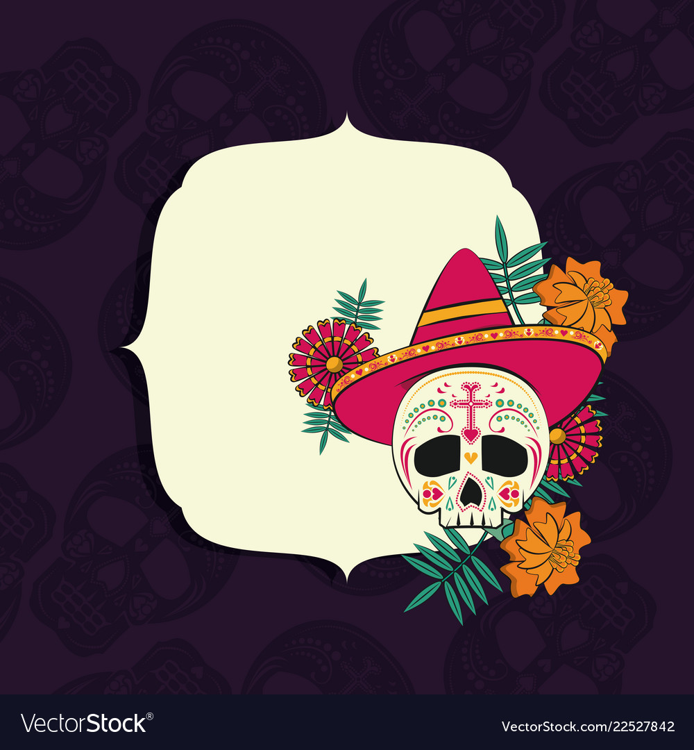 Day Of The Dead Frame Royalty Free Vector Image