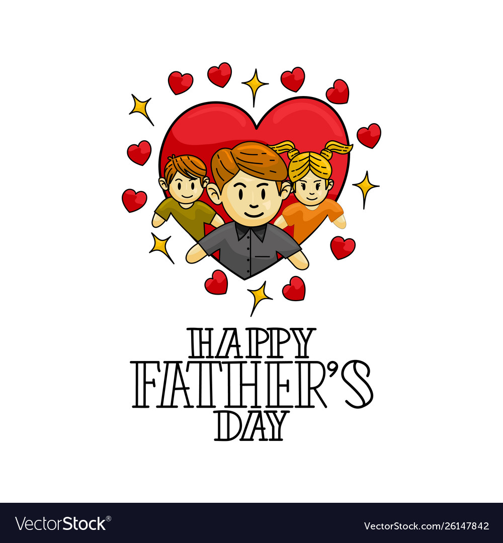 Happy fathers day template design