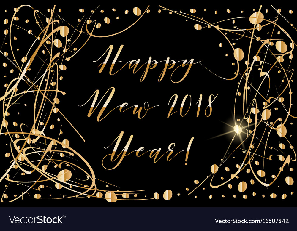 Happy new year 2018 background with shiny