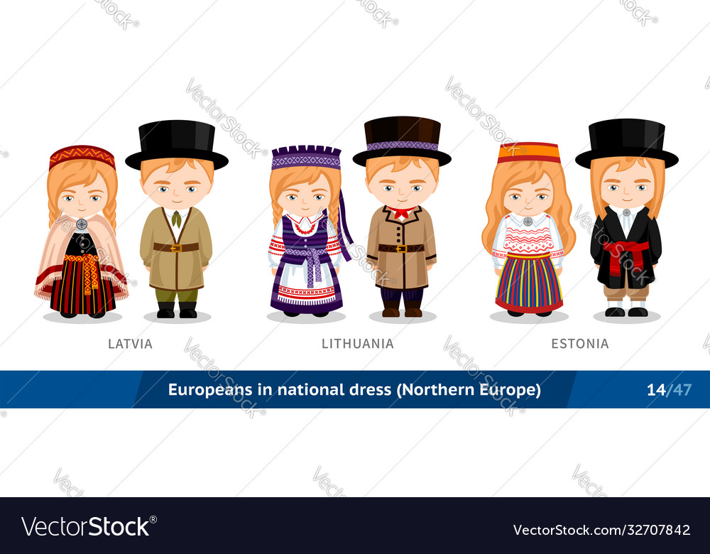 Latvia lithuania estonia men and women in