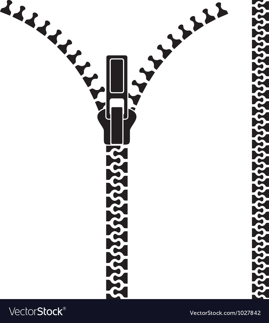 open zipper royalty free vector image vectorstock rh vectorstock com zipper vector pack zipper vector free