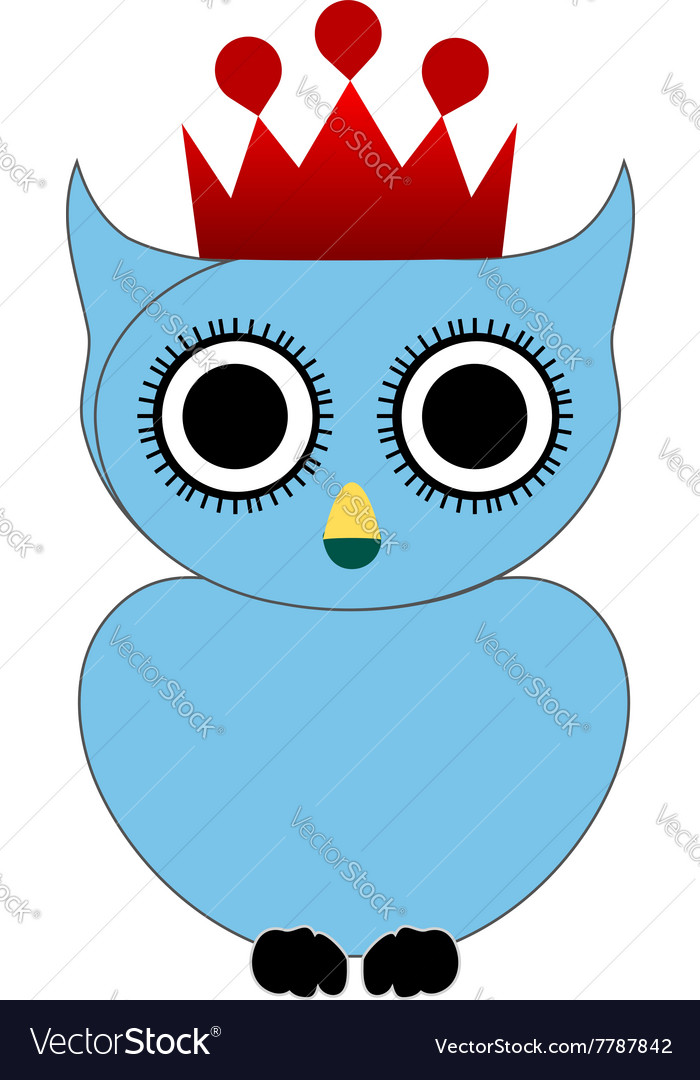 Owl with crown and crown