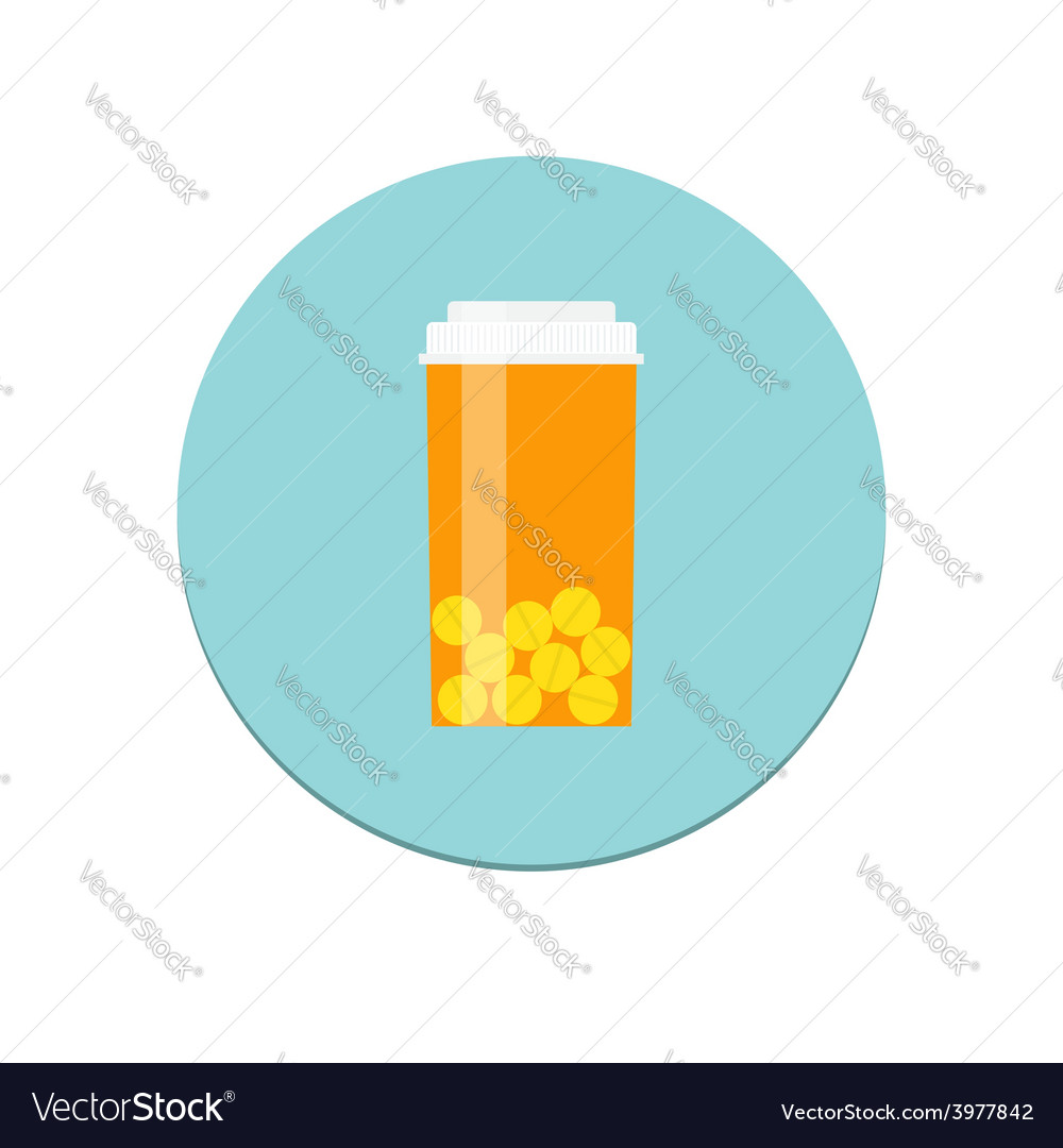 Prescription Bottle Icon vector image
