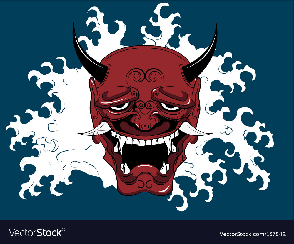 Description Oni mask tshirt design Expanded License Yes
