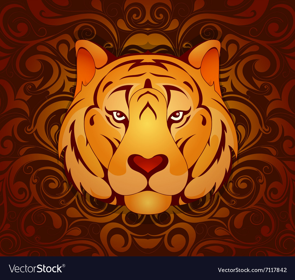 Tiger As Symbol For Year 2010 Royalty Free Vector Image