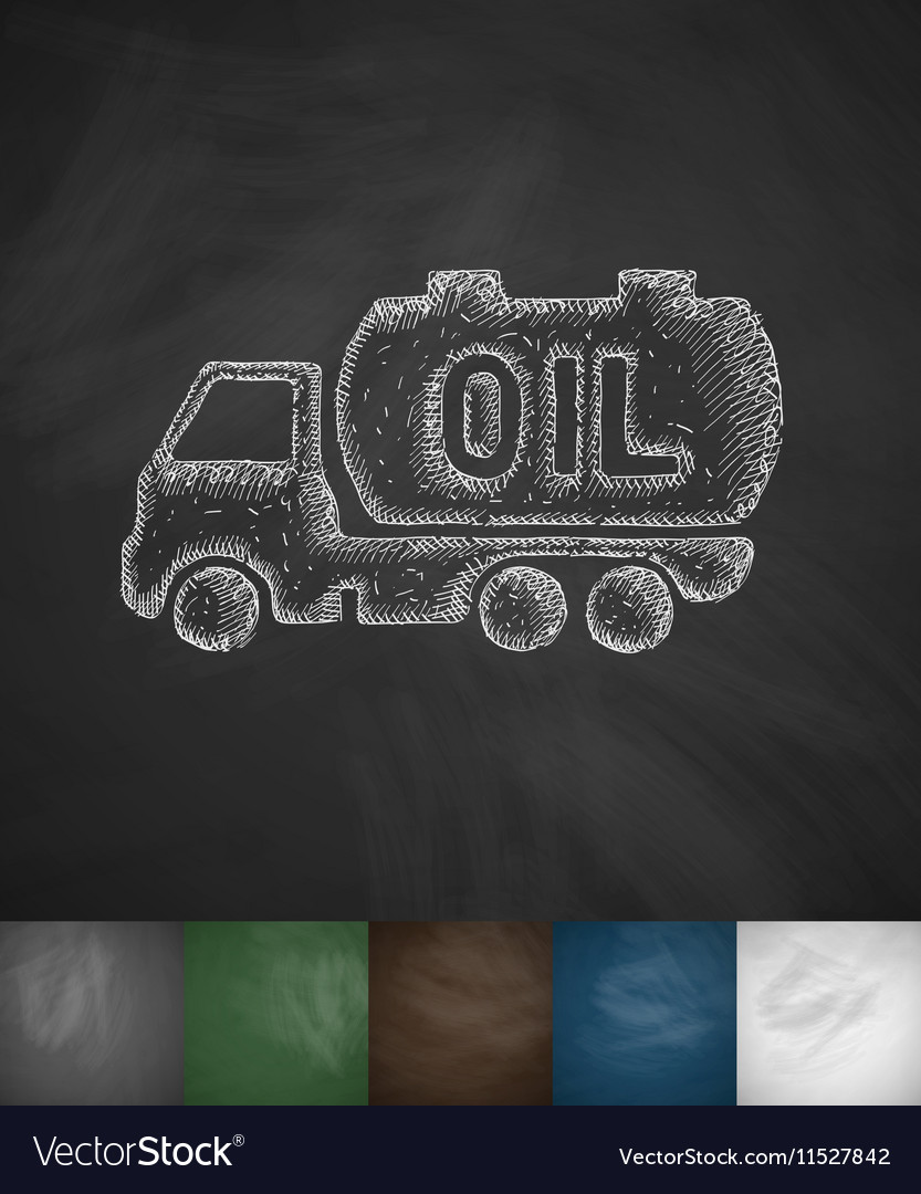 Transportation of oil icon vector image