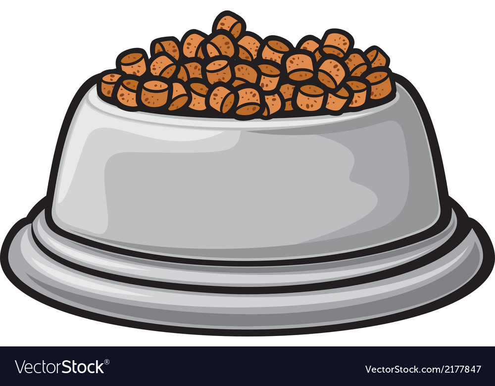 Bowl for animals vector image