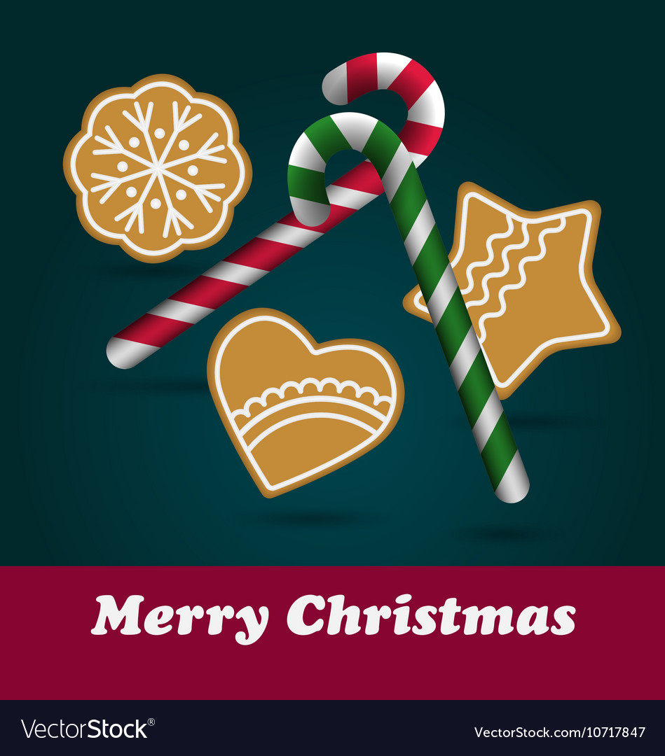 Christmas Ginger and Honey cookies Royalty Free Vector Image