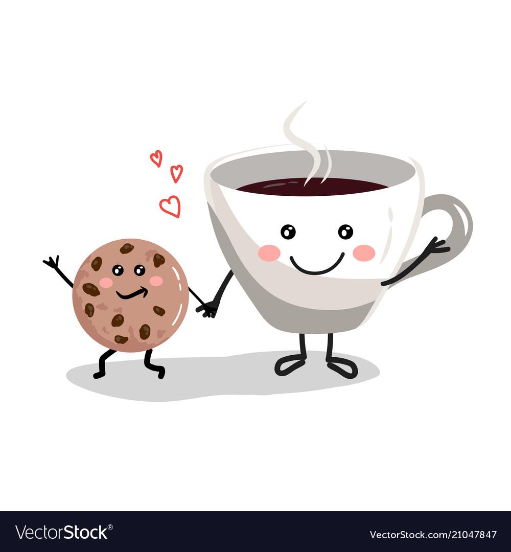 Cute cartoon cup of coffee3