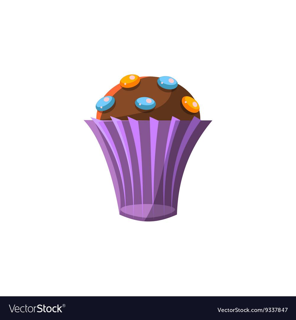Cute Cupcake In Purple Paper Cup