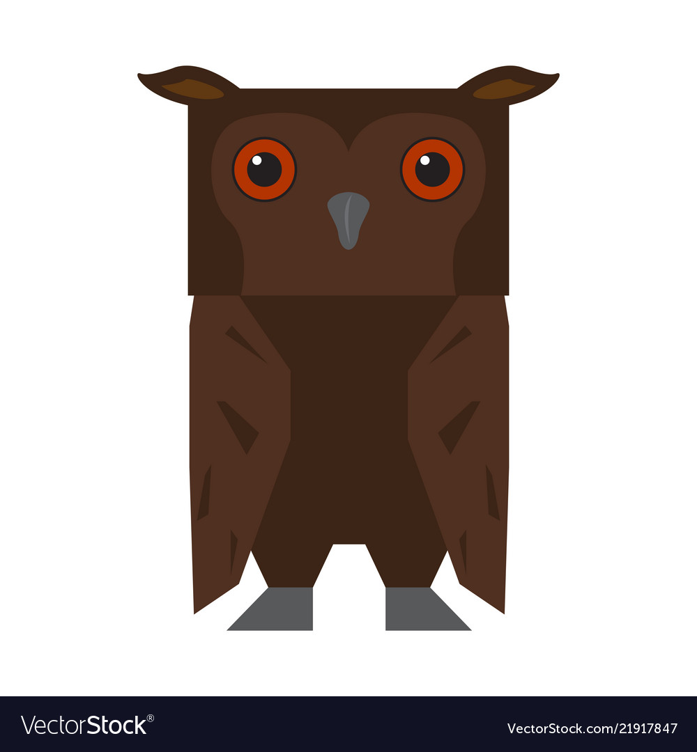 Cute Halloween Owl Cartoon Character Vector Image