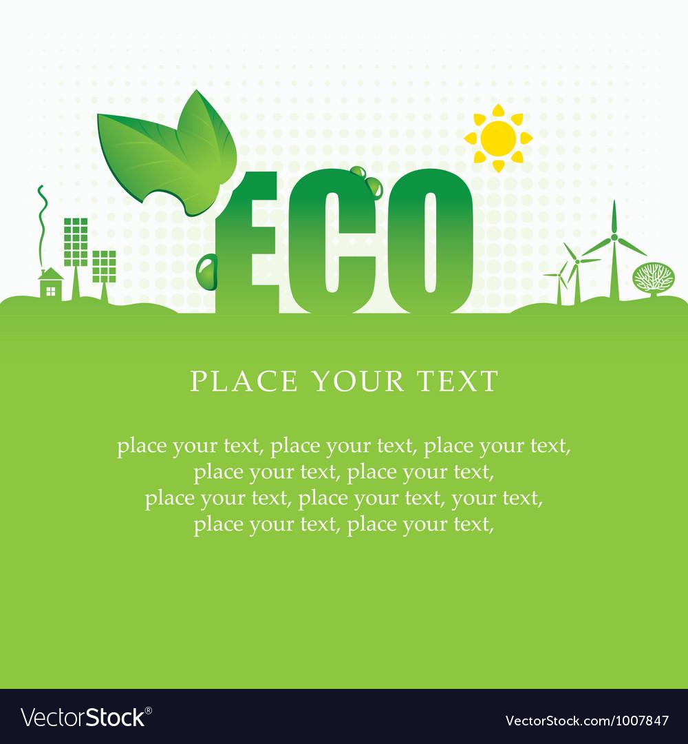 Eco banner