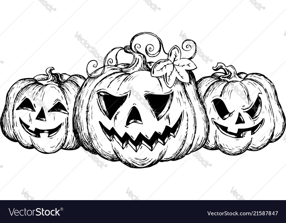 Halloween theme drawing 2 Royalty Free Vector Image