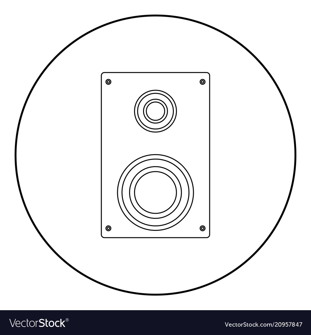 Loud speaker icon black color in circle