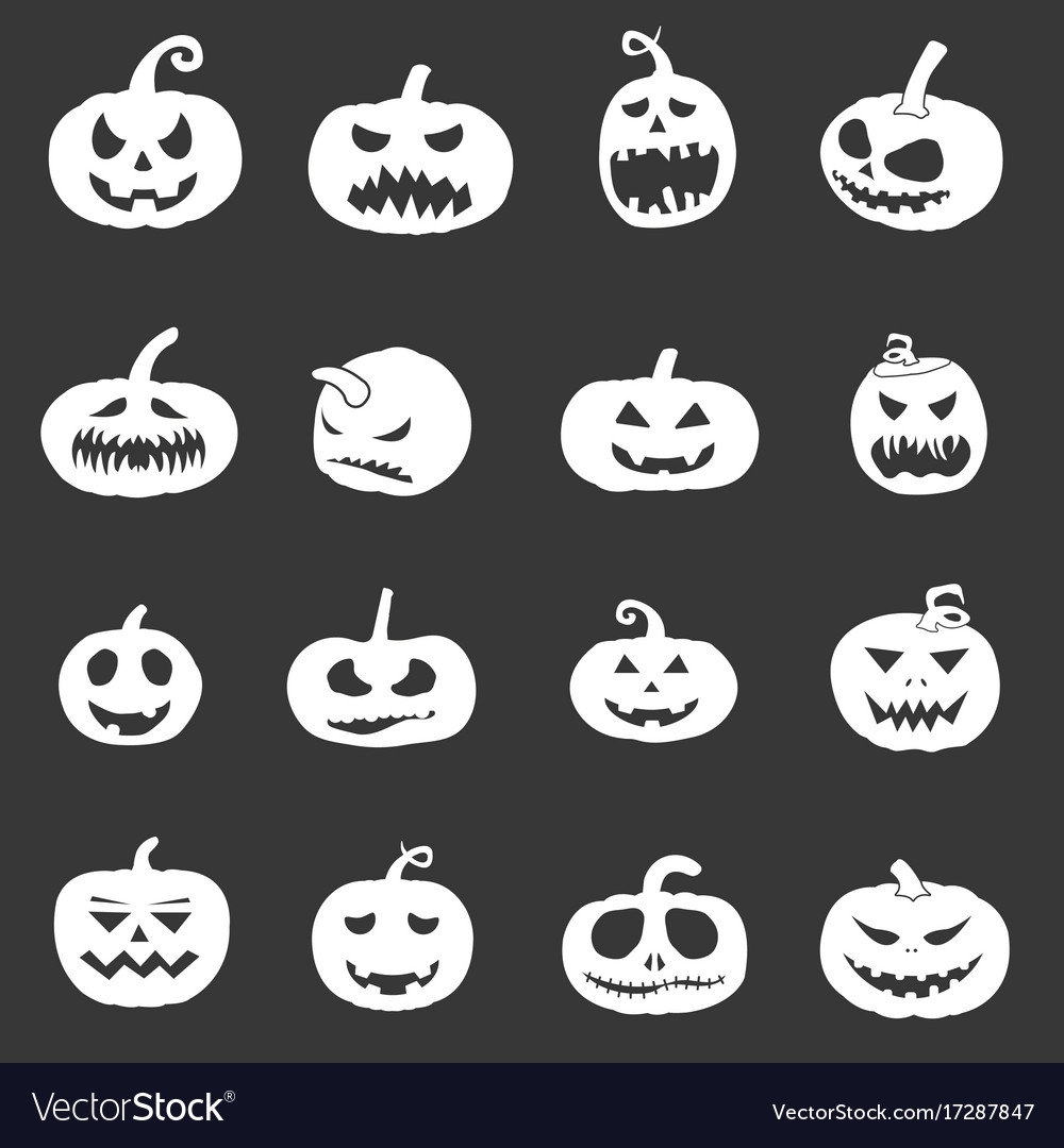 Pumpkin icons set for halloween