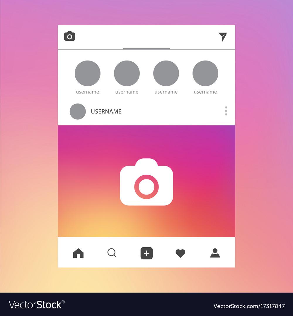 Social network post photo frame