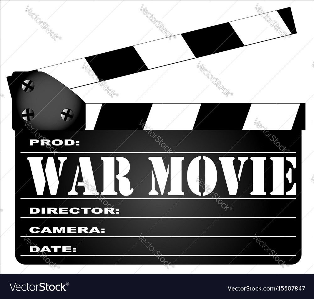 War movie clapperboard vector image