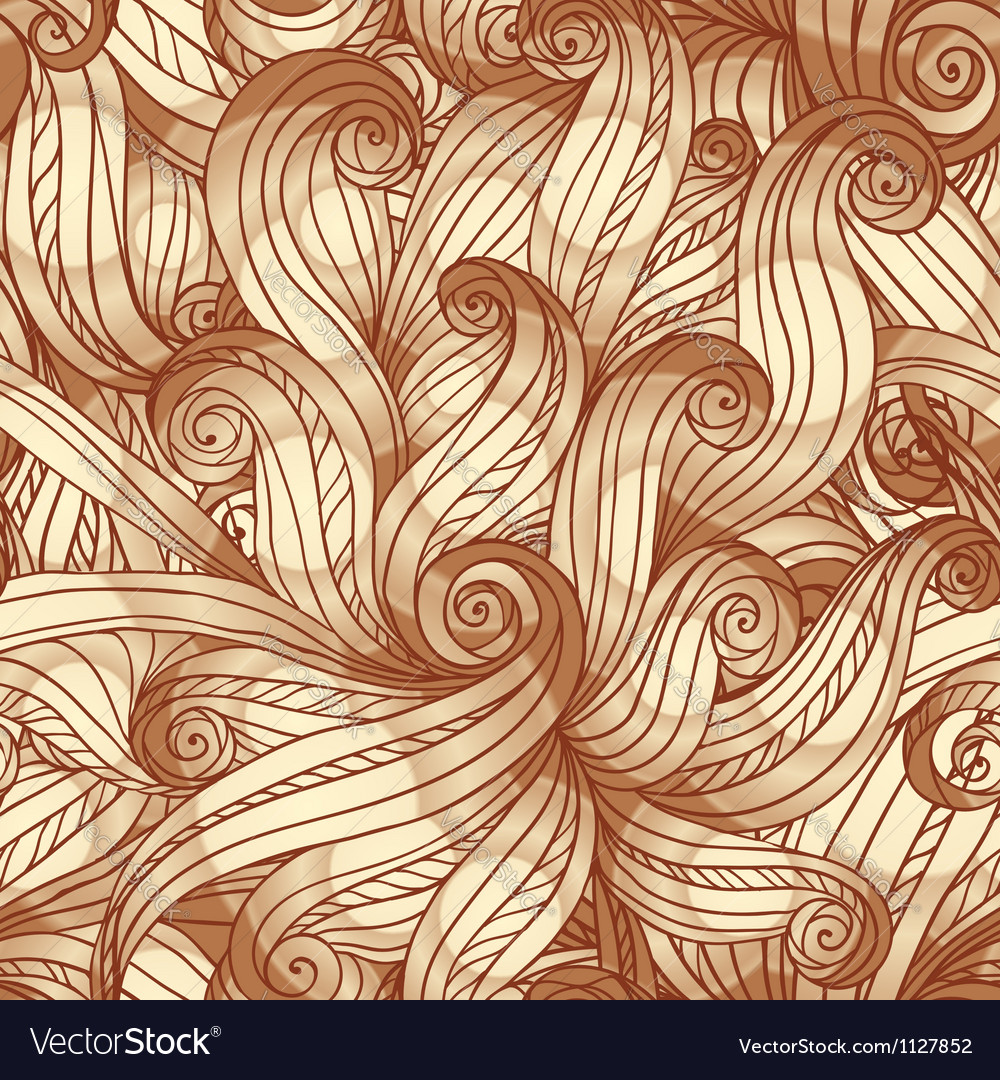 Abstract vintage seamless hair pattern