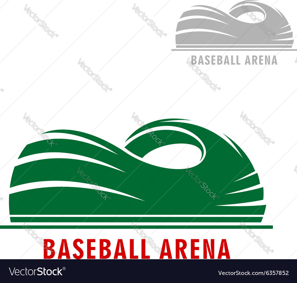 Baseball or softball stadium symbol