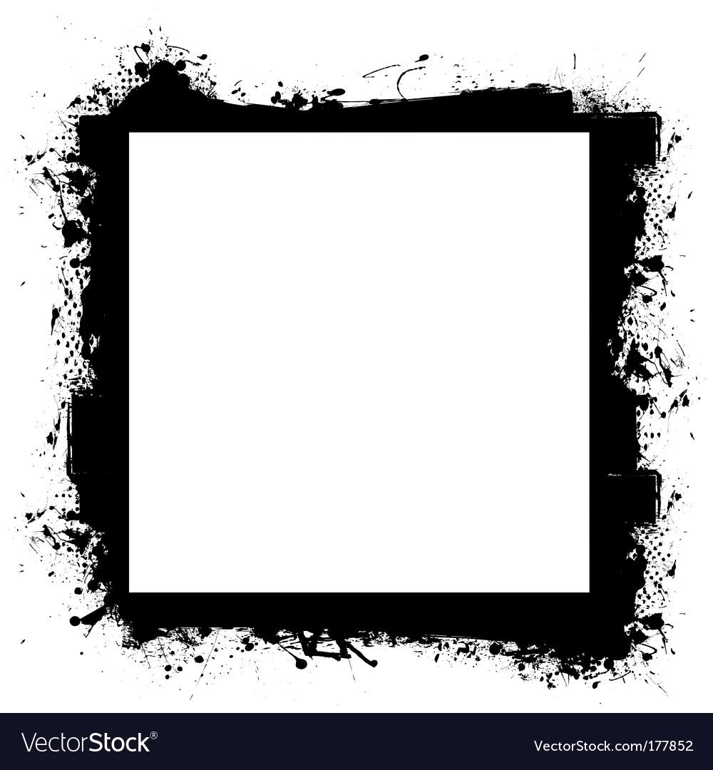 Black in border grunge effect vector image