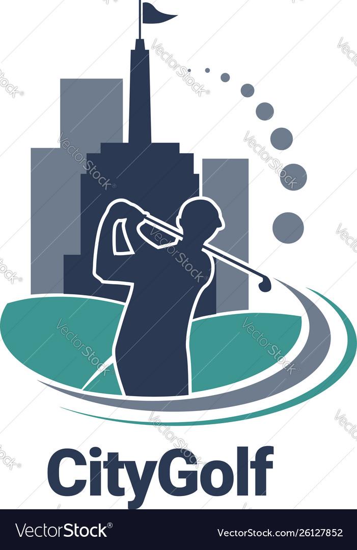 City golf logo sign symbol icon