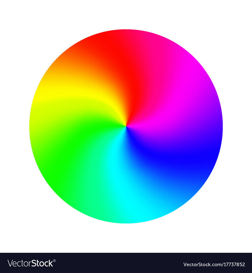 Color wheel abstract colorful rainbow
