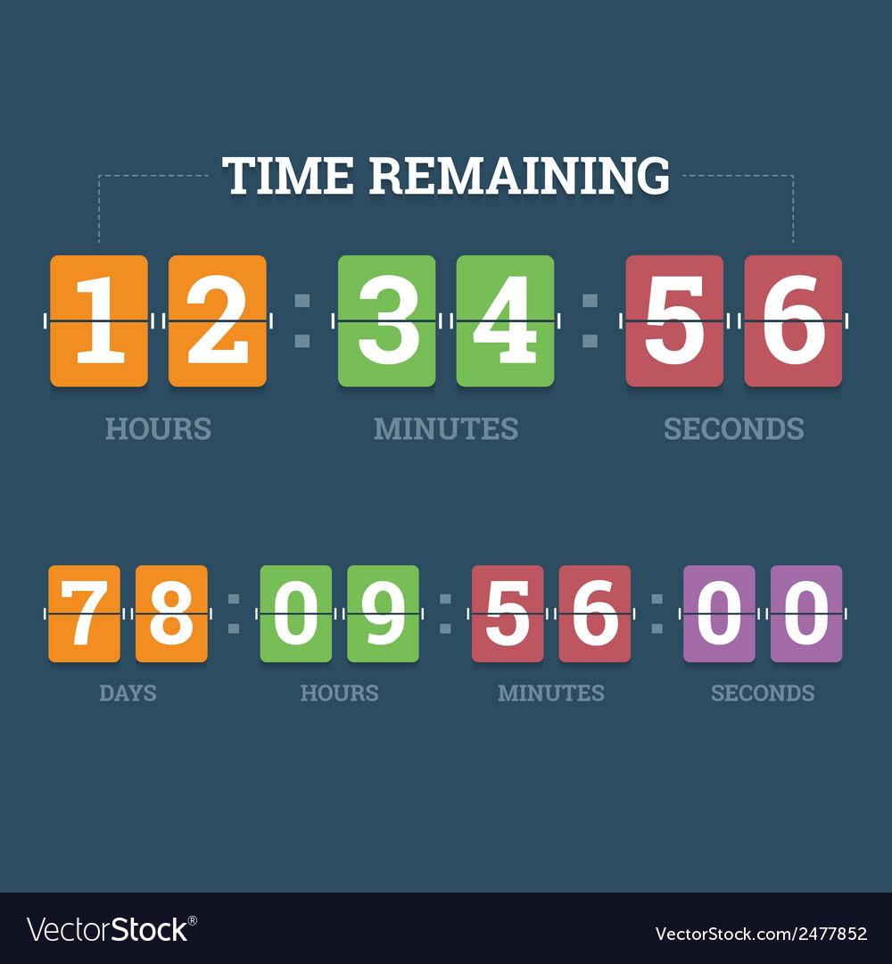 Countdown mechanical clock vector image