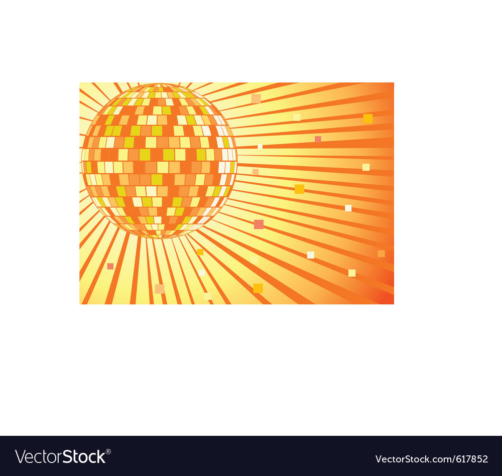 Disko mirror ball vector image